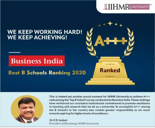 IIHMR University Ranked A+++ in Business India Ranking