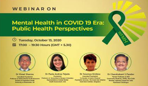Mental Health in COVID 19 Era: Public Health Perspectives