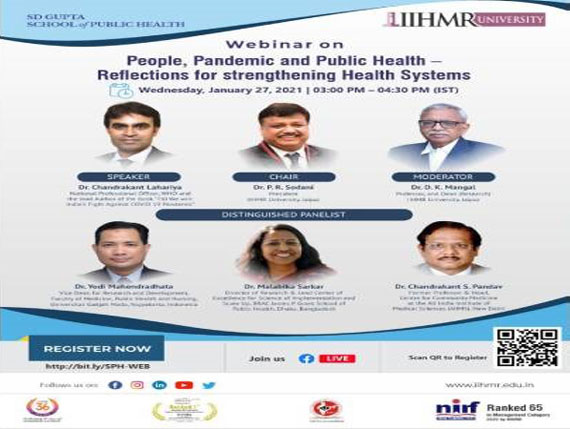 People, Pendemic and Public Health -  Reflections for strengthening Health Systems
