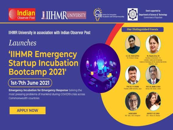 IIHMR Emergency Startup Incubation Bootcamp 2021