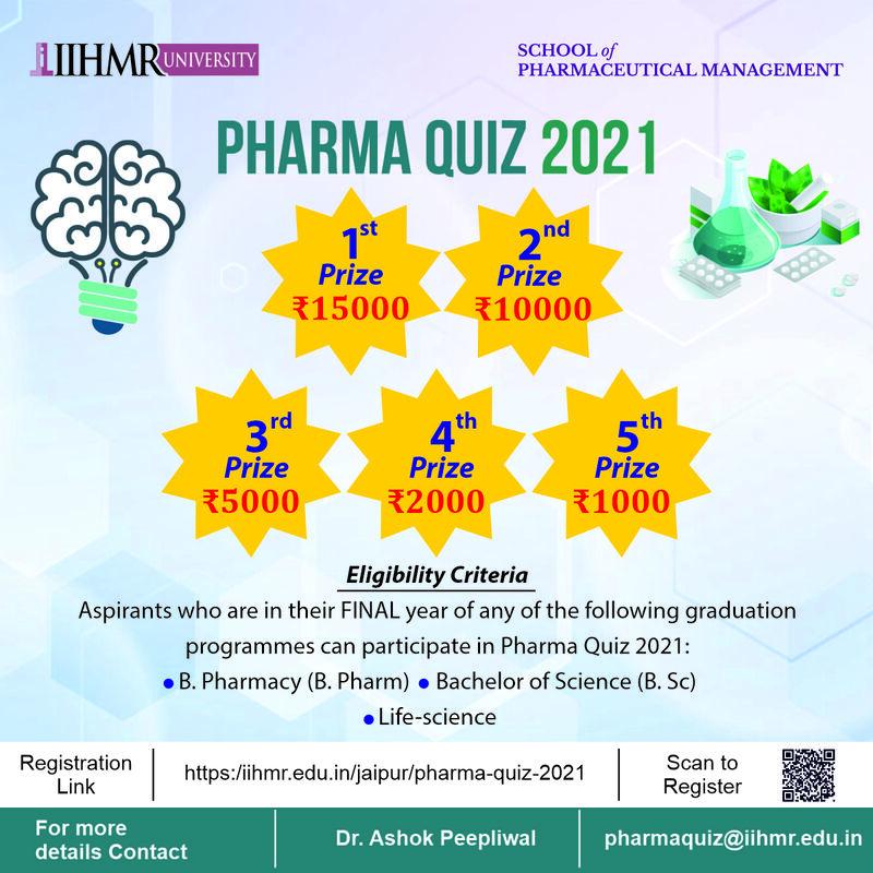 Pharma Quiz 2021    IIHMR University