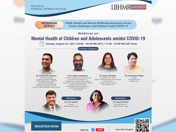Mental Health of Children and Adolescents amidst COVID-19