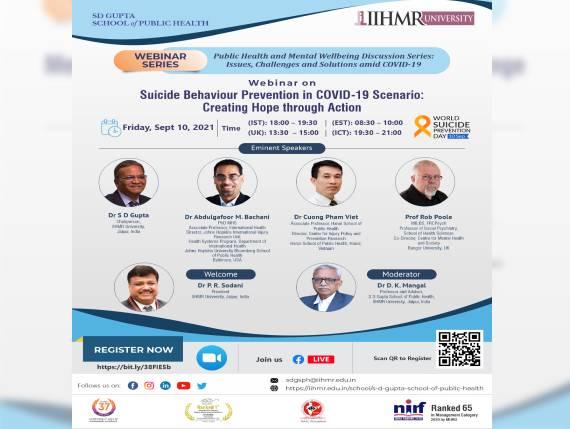Suicide Behaviour Prevention in COVID-19 Scenario: Creating Hope through Action