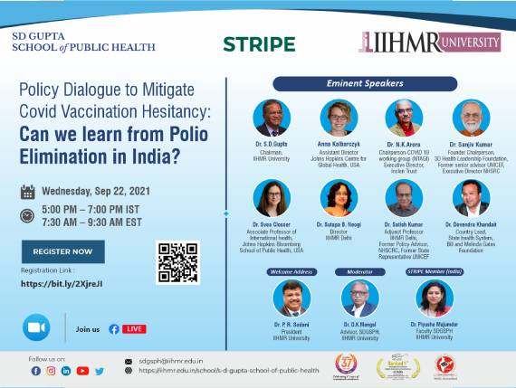 Policy Dialogue to mitigate Covid Vaccination Hesitancy: Can we learn from Polio elimination in India