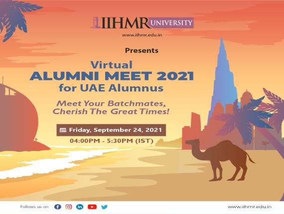 Virtual Alumni Meet 2021 for UAE Alumnus