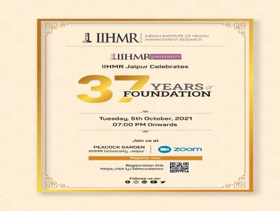 IIHMR Jaipur Celebrates 37 Years of Foundation Day 2021